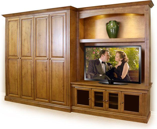 Combo Murphy Bed Tv Cabinet Stone Creek Furniture Murphy Bed