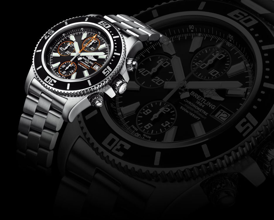 Breitling Superocean Chronograph II This is the ultimate dive watch! Water-resistant to 500 meters (1,650 ft) combines a youthful, dynamic and modern appearance with a high-performance selfwinding movement chronometer- certified by the COSC.