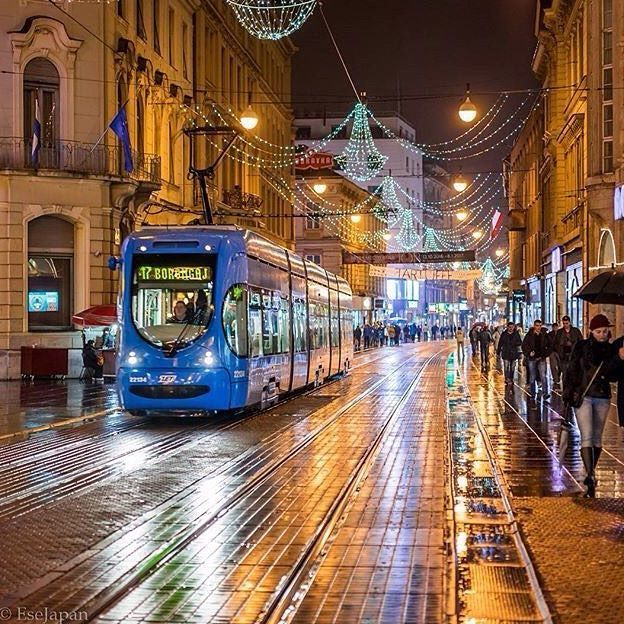 Zagreb S Main Street Ilica Captured Brilliantly In The Rain By Esejapan Tag Your Pics Croatiaweek To Be Featured Croatia Croatia Zagreb Capital City