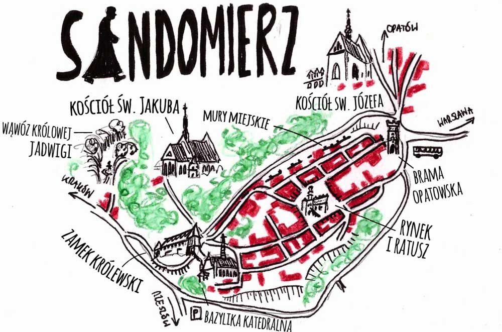 Mapa Zabytkow Sandomierza Wiecej We Wpisie Na Blogu Sandomierz