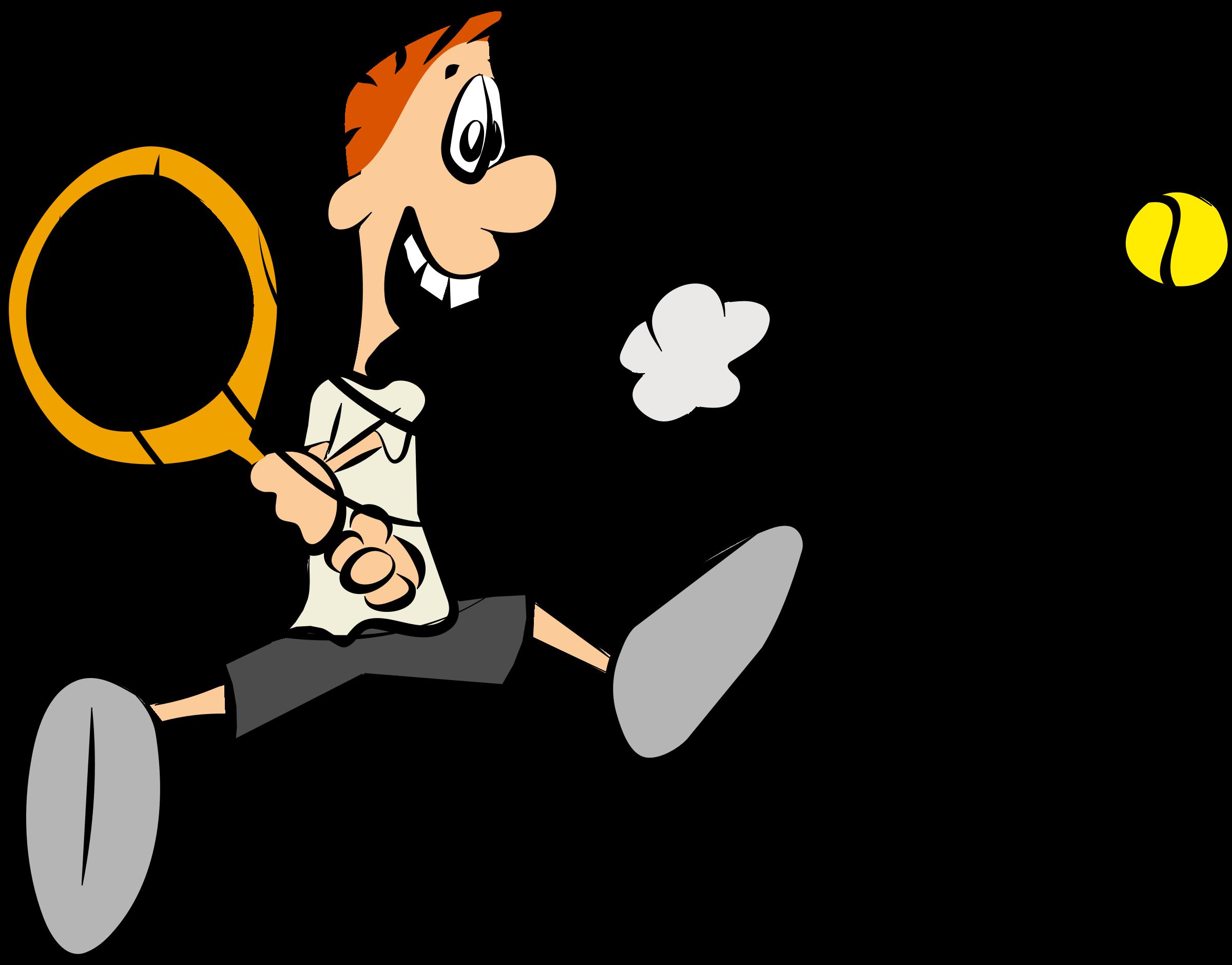 Cartoon Tennis Player By Samtux Cartoon Tennis Player On Openclipart Tennis Players Tennis Player Card