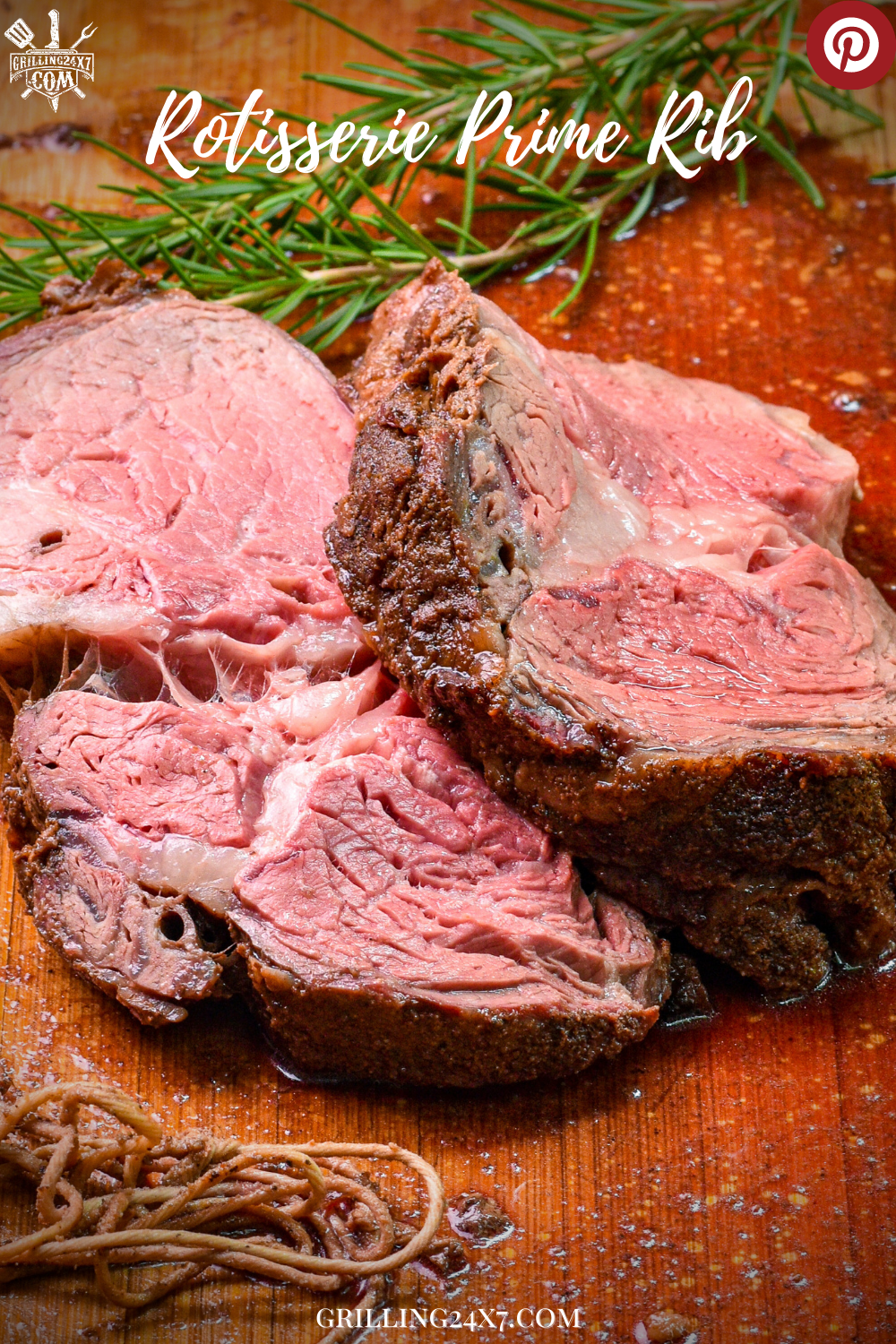 f you want the juiciest prime rib roast of your life then this Rotisserie Prime Rib is the recipe for you!! Tender perfectly cooked beef with an unbelievable crust. #smokedprimerib #weberkettle #rotisserieprimerib #Lowcarbrecipe