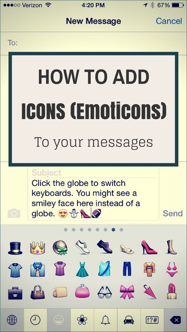 How To Add Icons Emoticons To Your Messages Be Web Smart Messages Your Message Emoji Keyboard