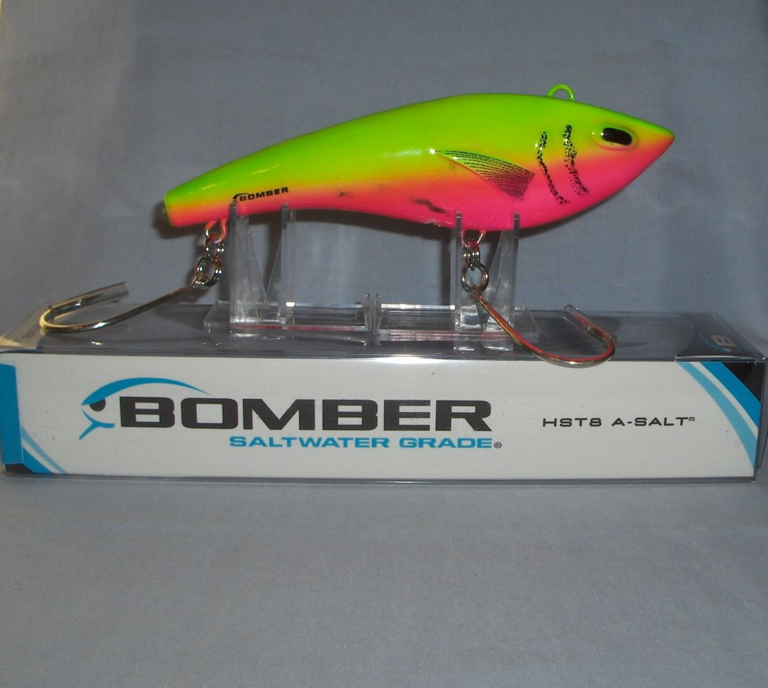 "8"" Bomber Saltwater Grade HST8 High Speed Trolling Lure Cotton Candy #BSWHST8"