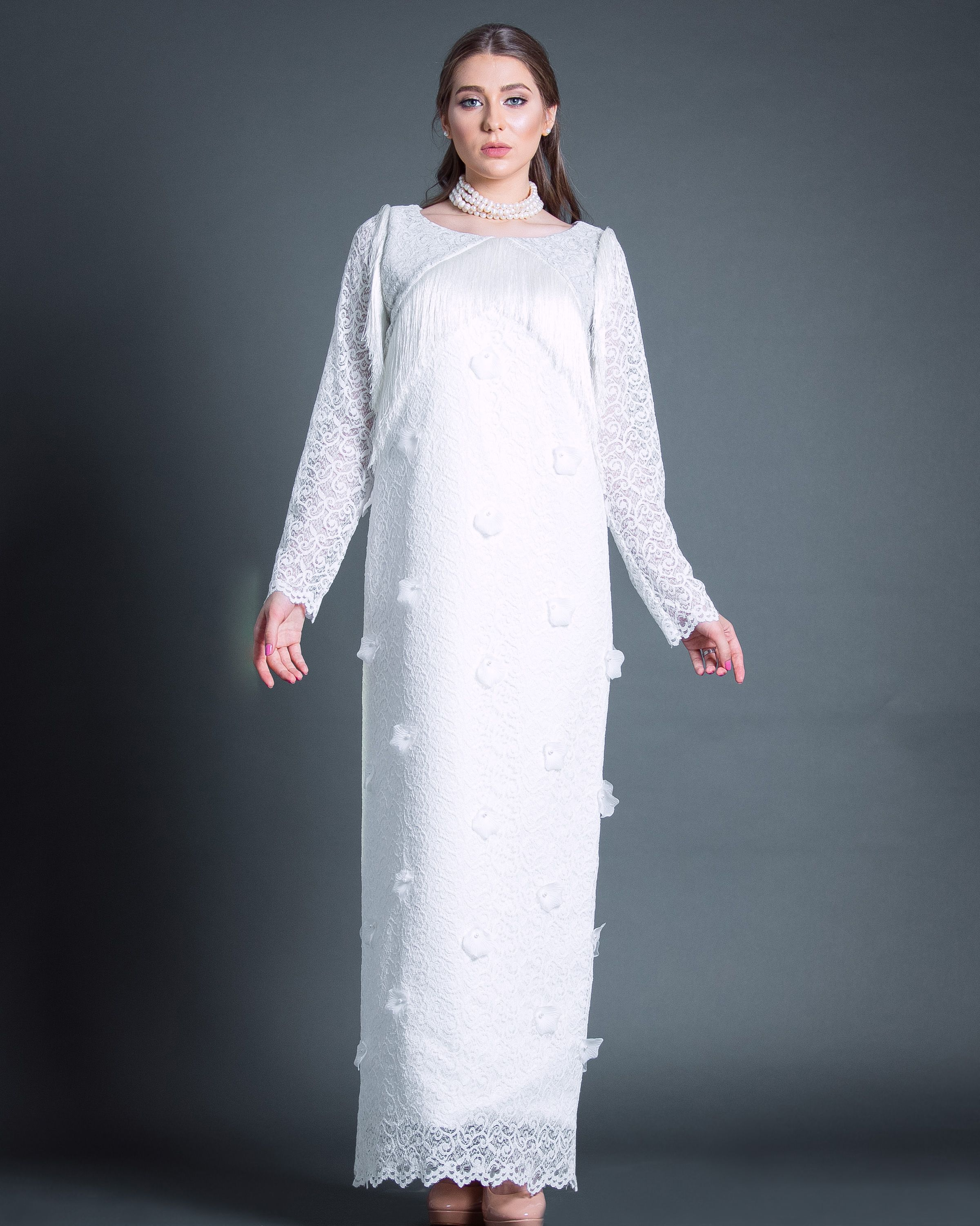 White Petals Gown by Shoug 🌬 | Sale Items | Pinterest | Long white ...
