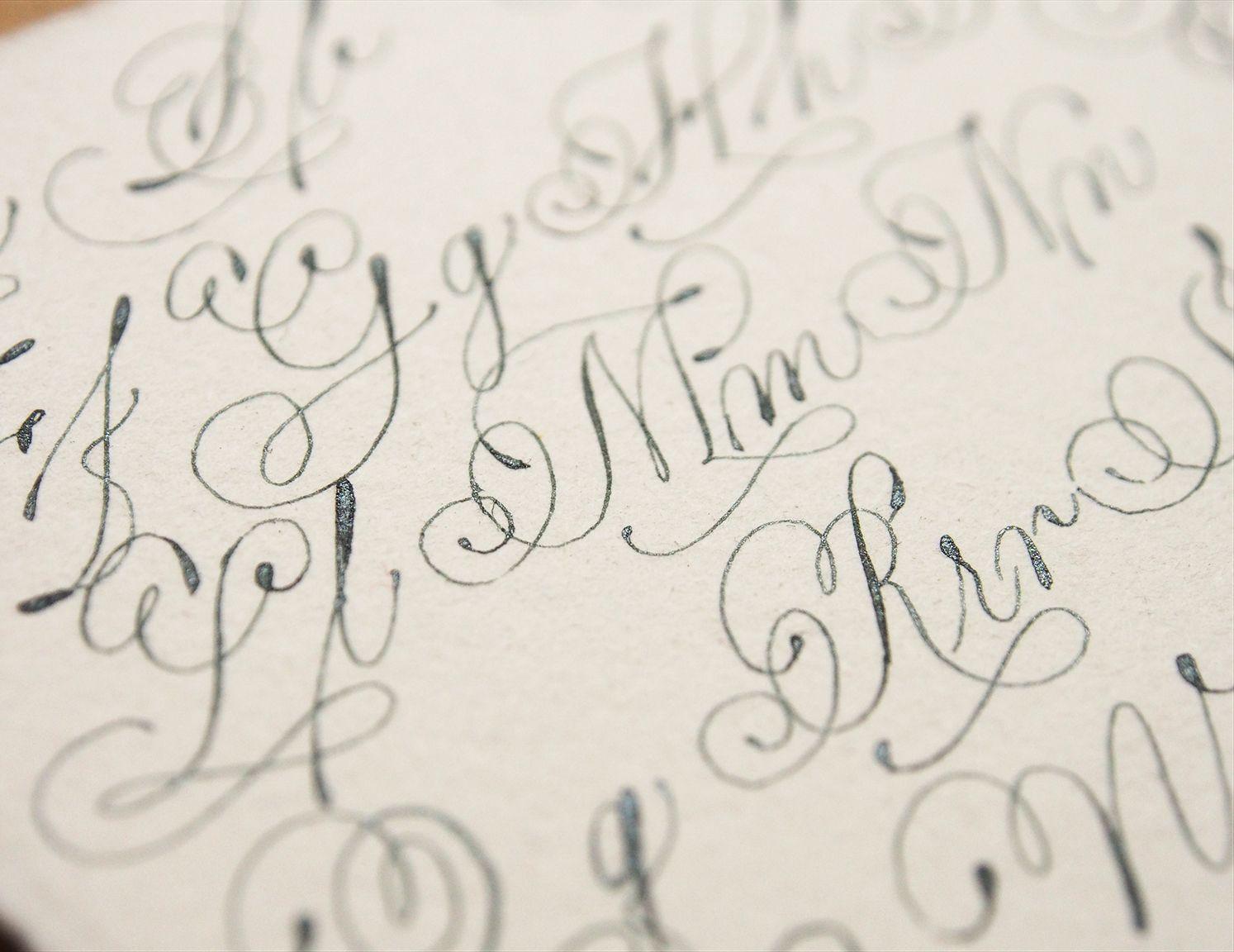 Italian hand exemplar calligraphy pointedpen italianhand