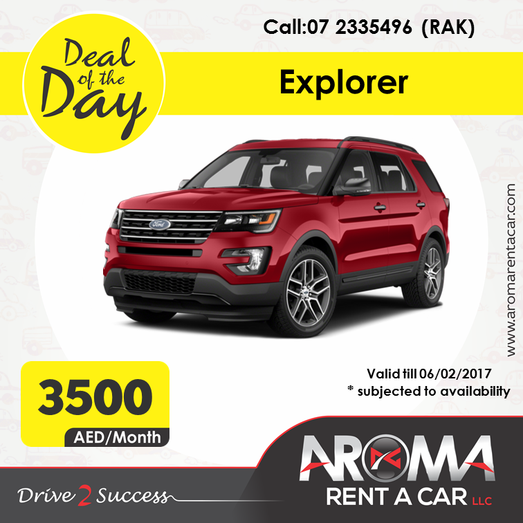 Rent A Car Monthly Aroma Rent A Car Offers Deal Of The Day Rak