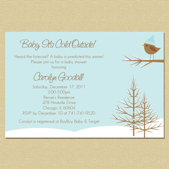Baby its cold outside cute invite for winter winter wonderland baby its cold outside cute invite for winter filmwisefo Choice Image