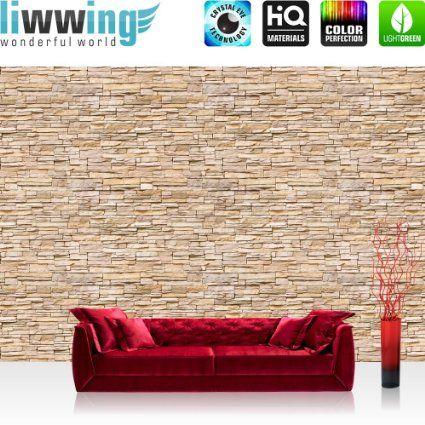 vlies fototapete premium 400x280cm asian brick stone wall by liwwing r vliestapete tapete. Black Bedroom Furniture Sets. Home Design Ideas