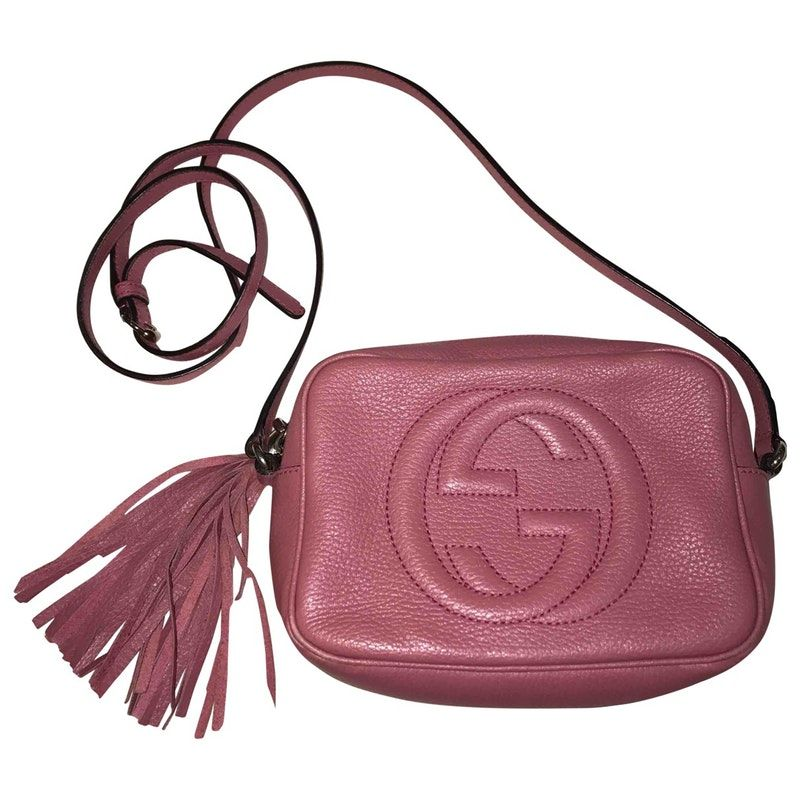 f73802d0b pink Plain Leather GUCCI Handbag - Vestiaire Collective