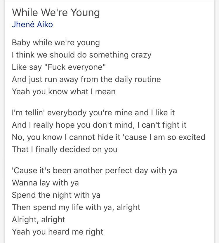 Jhene aiko- while we're young Obsessed with this song #jheneaiko Jhene aiko- while we're young Obsessed with this song #jheneaiko Jhene aiko- while we're young Obsessed with this song #jheneaiko Jhene aiko- while we're young Obsessed with this song #jheneaiko
