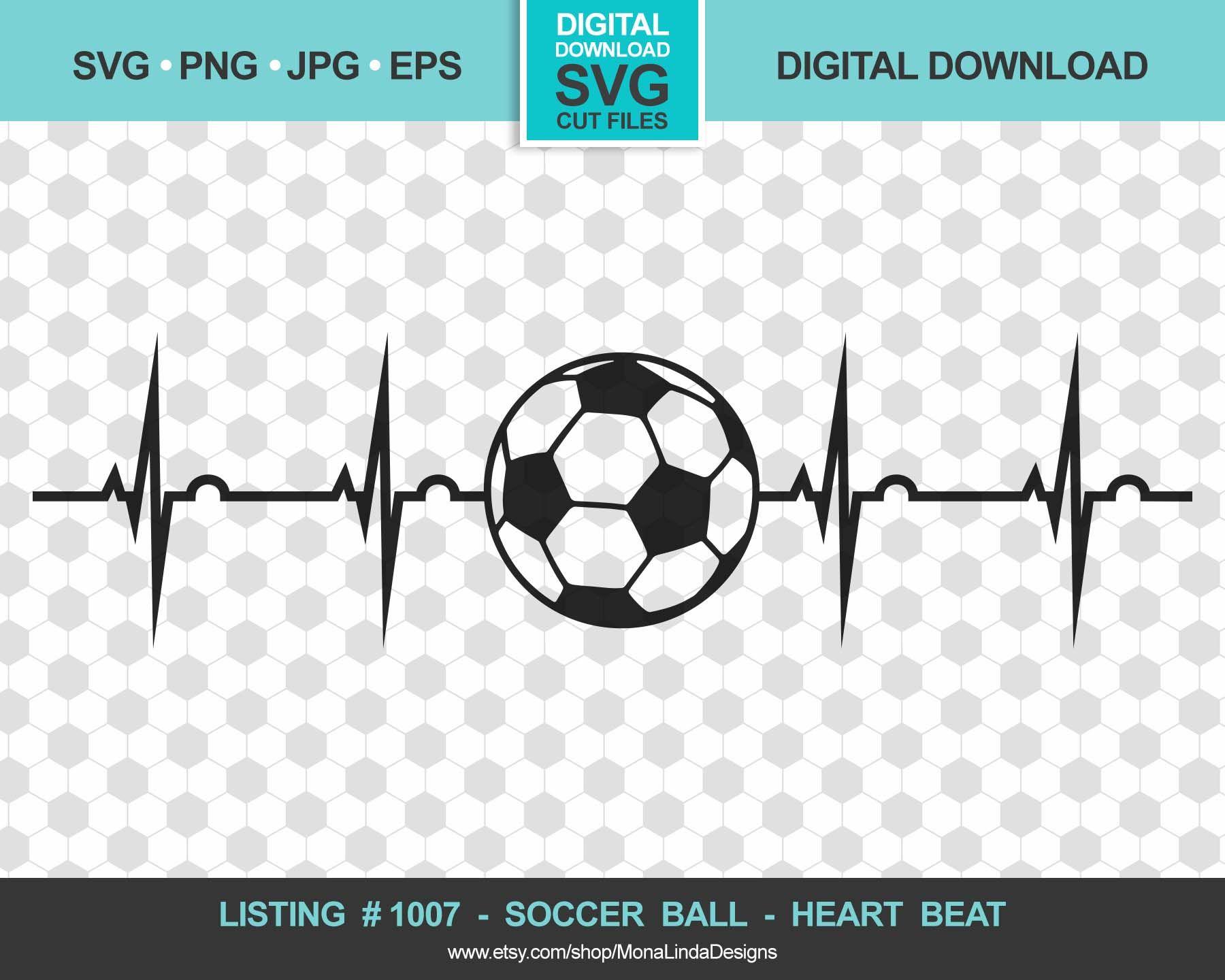 Soccer Ball Heart Beat Svg Svg Png Pdf Jpg Sports Etsy In 2020 Soccer Ball Soccer In A Heartbeat