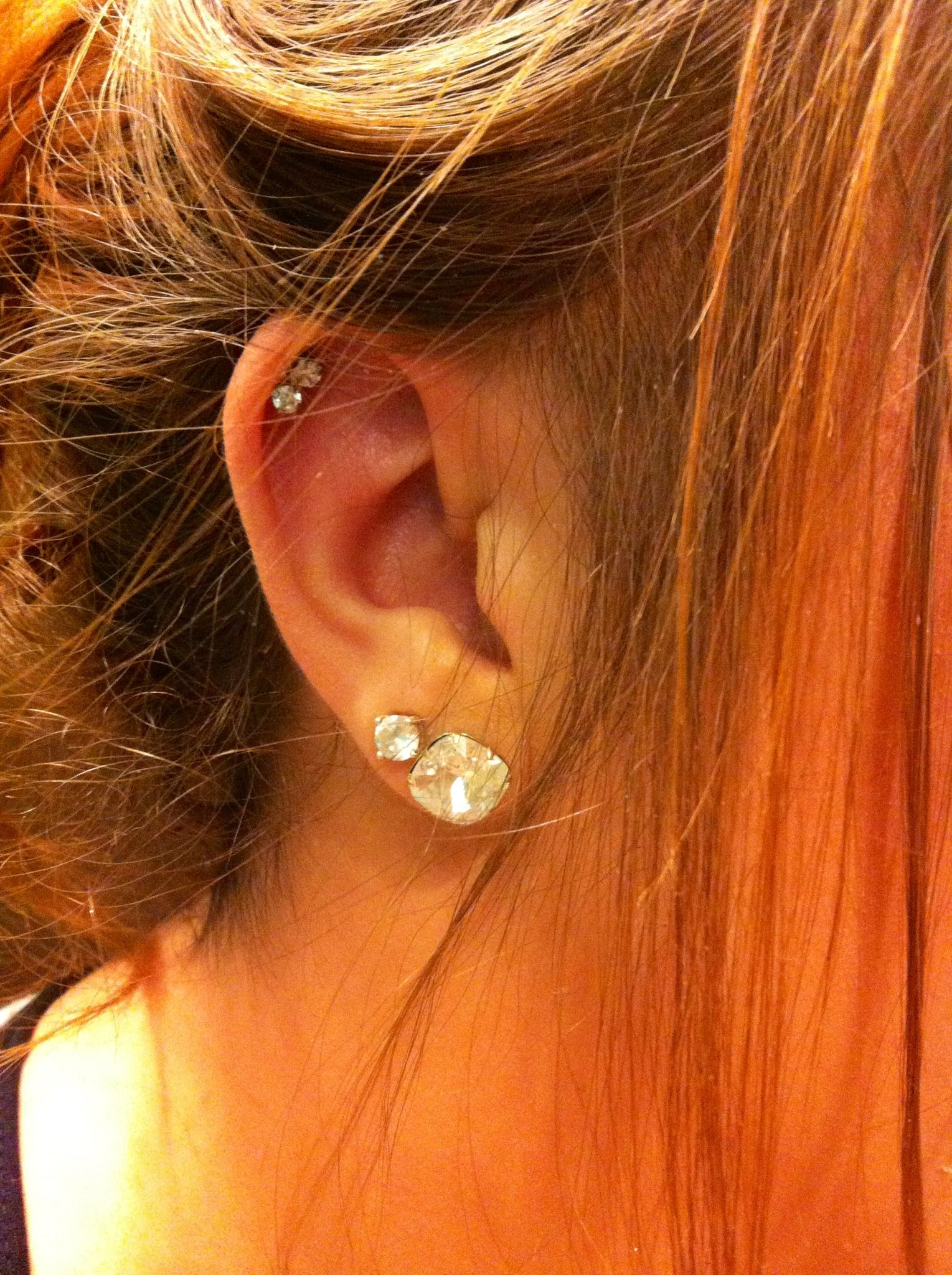 Coach Earrings On The Bottom & Double Cartilage Piercing