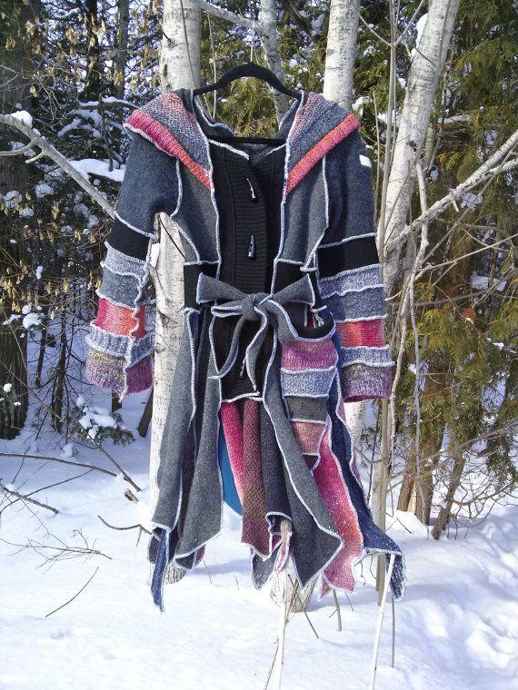 Katwise inspired Upcycled Sweater Coat Pixie by AmandaSewAndSooo