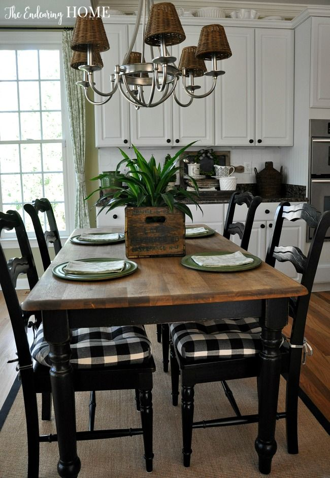 Farmhouse Style Kitchen Table Makeover (The Endearing Home ...