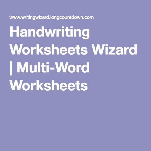 Handwriting worksheets wizard multi word worksheets reading handwriting worksheets wizard multi word worksheets ibookread Download
