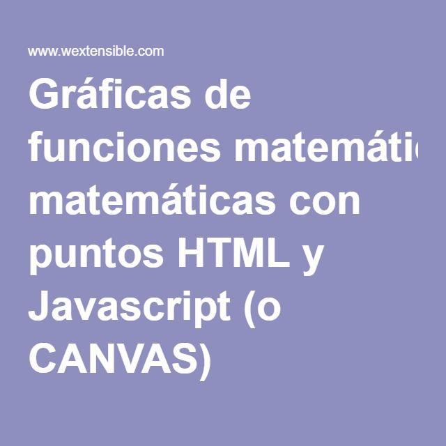 Gráficas de funciones matemáticas con puntos HTML y Javascript (o CANVAS)