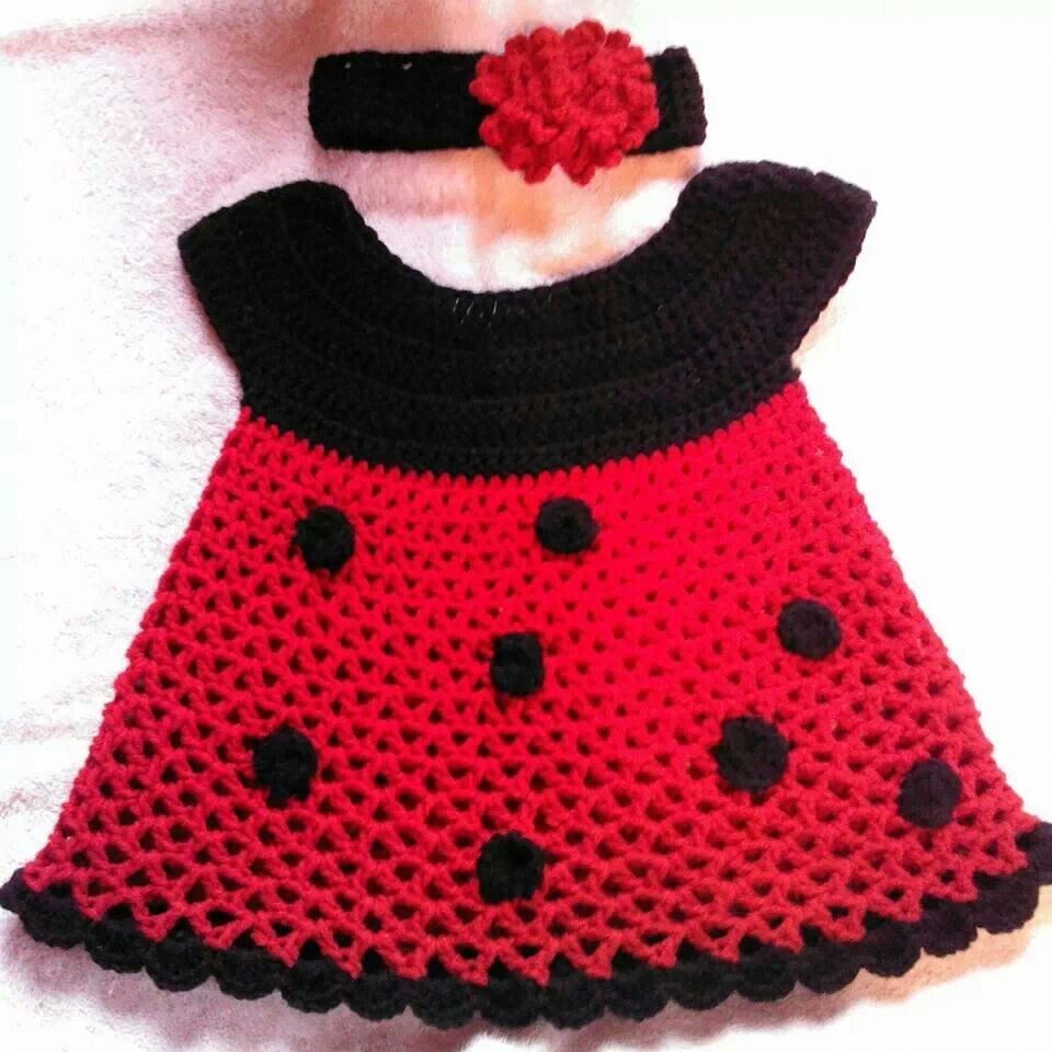 Minnie Mouse or Lady bug dress | CROCHET PATTERNS | Pinterest | Baby ...