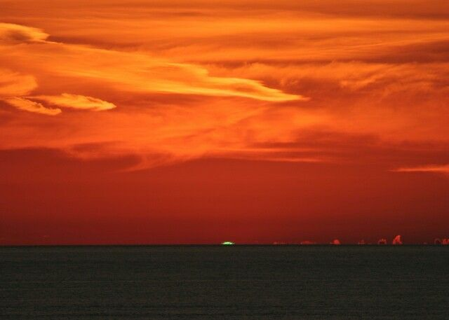 Green Flash at Sunset