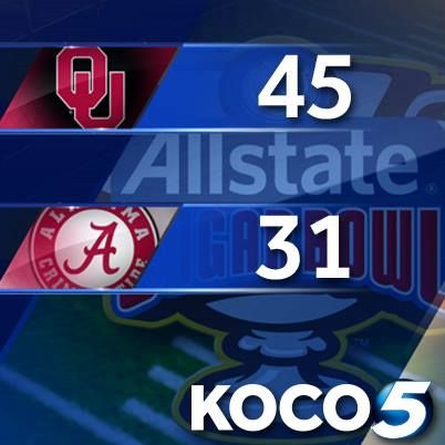Ou Wins This Was Your Final Score As Ou Beats Alabama To Win The