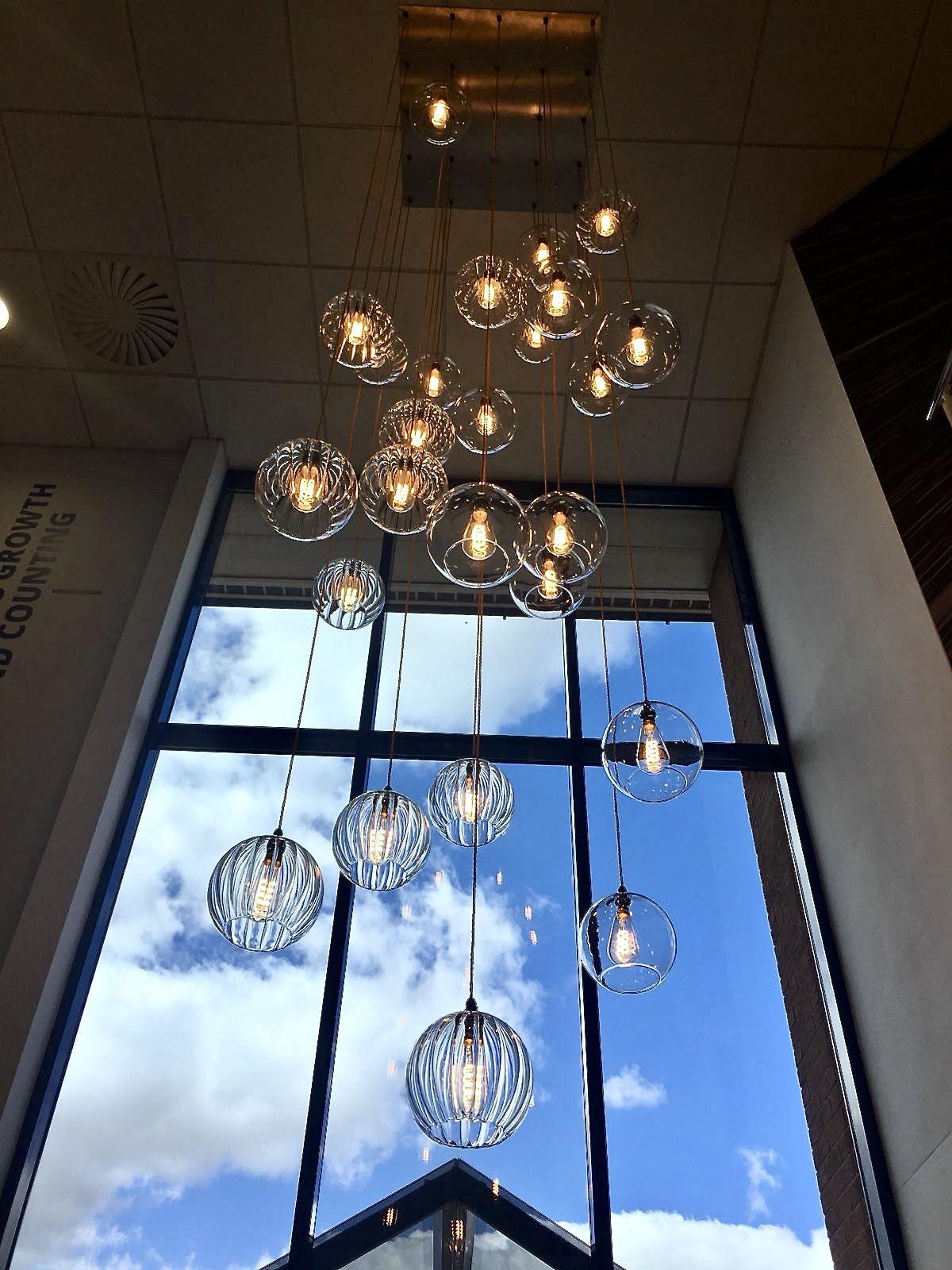 Fritz fryer hereford globe cluster pendant light set commercial