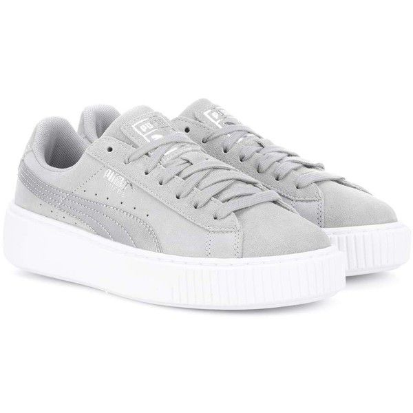 Puma Platform Safari Suede Sneakers (155 BAM) ❤ liked on