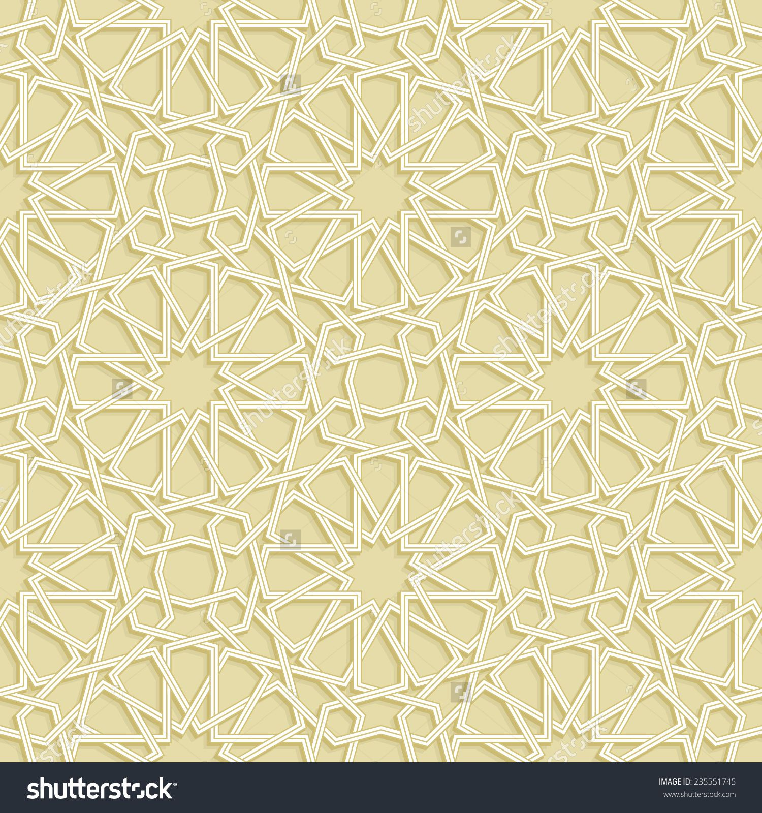 Islamic Star Gold Pattern Vector Illustration 235551745