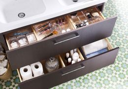 Makeup In The Bathroom With Images Bathroom Sink Storage Ikea