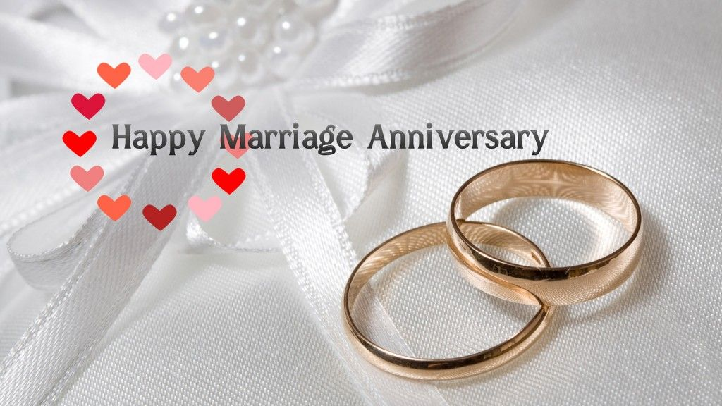 Happy Marriage Anniversary With Love And Ring Hd Wallpaper M