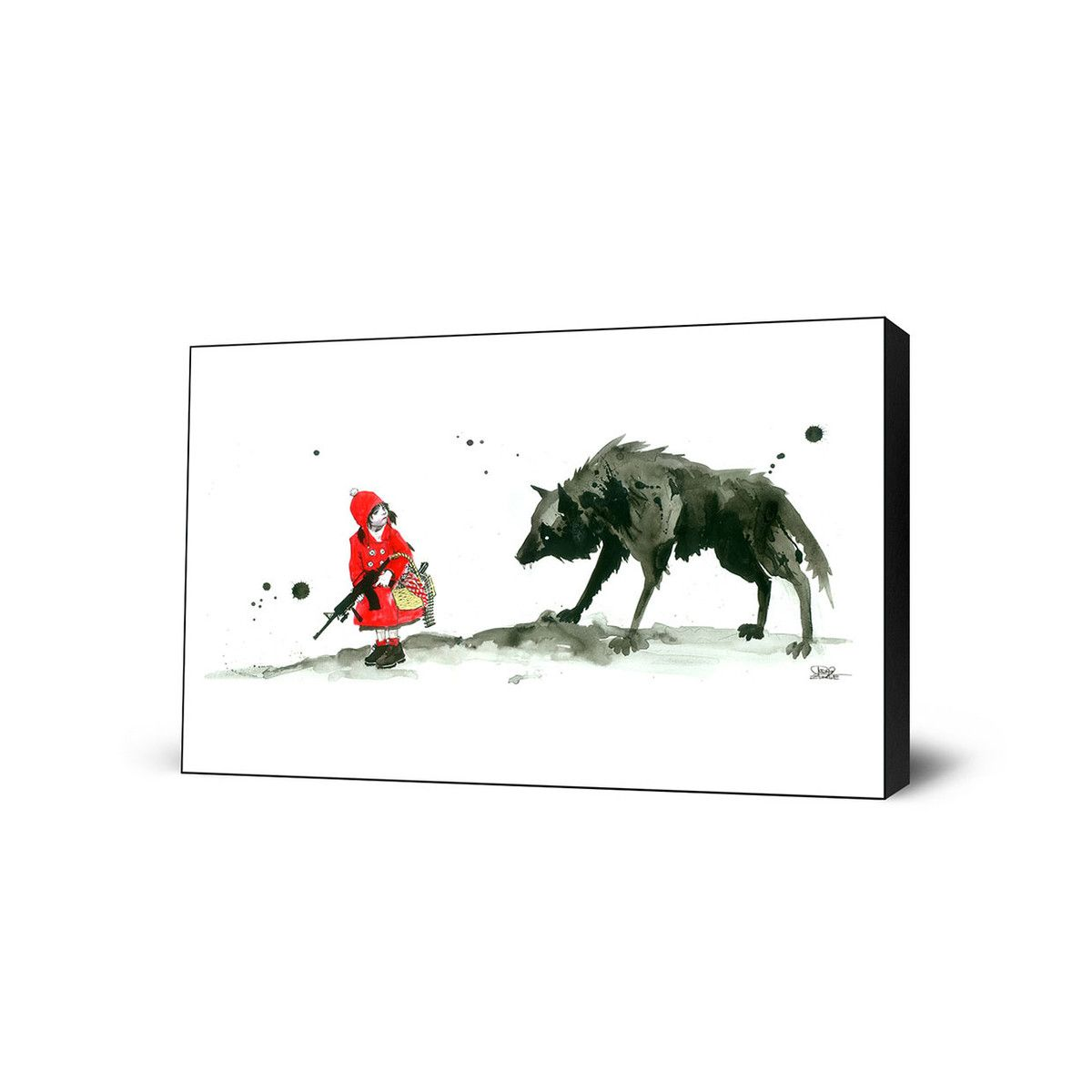 (18) Fab.com   Red Riding Hood Large Art Block