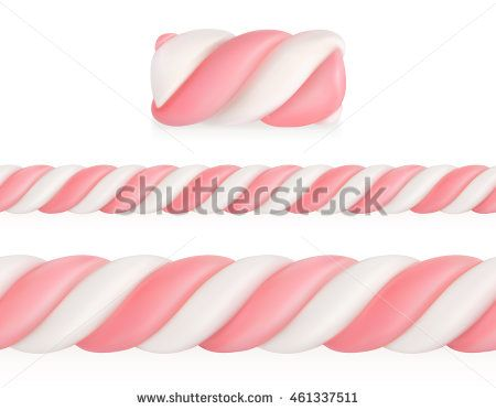 Marshmallows candy, vector seamless pattern