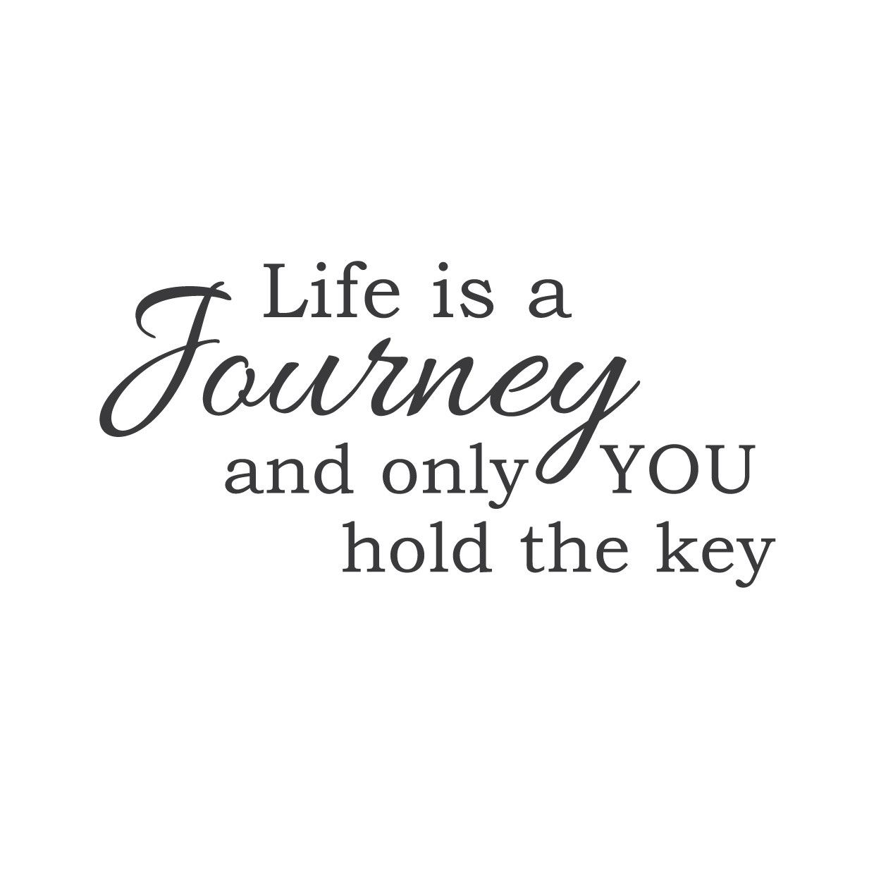 "Wwwinspirational Quotes About Life Wall Quotes Wall Decals  ""life Is A Journey And Only You Hold The"