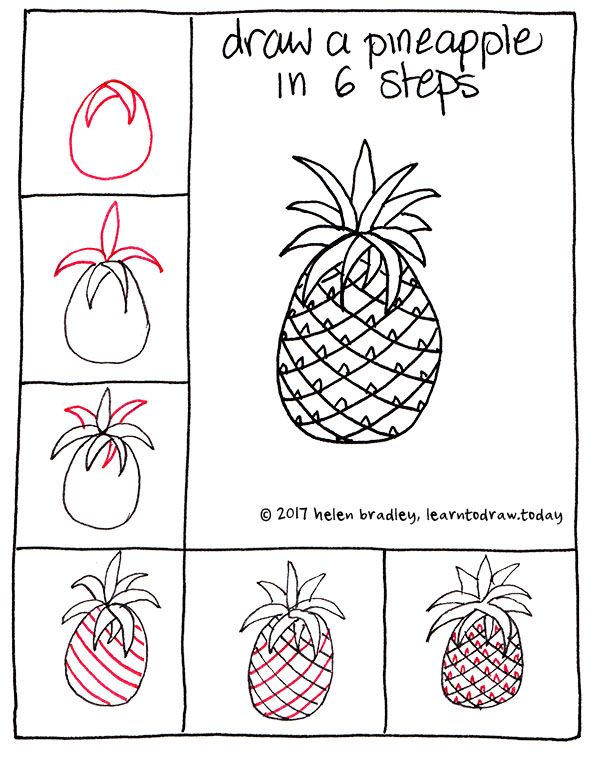 How To Draw An Adorable Pineapple In Just Six Step Banners And