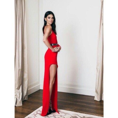Red dress..