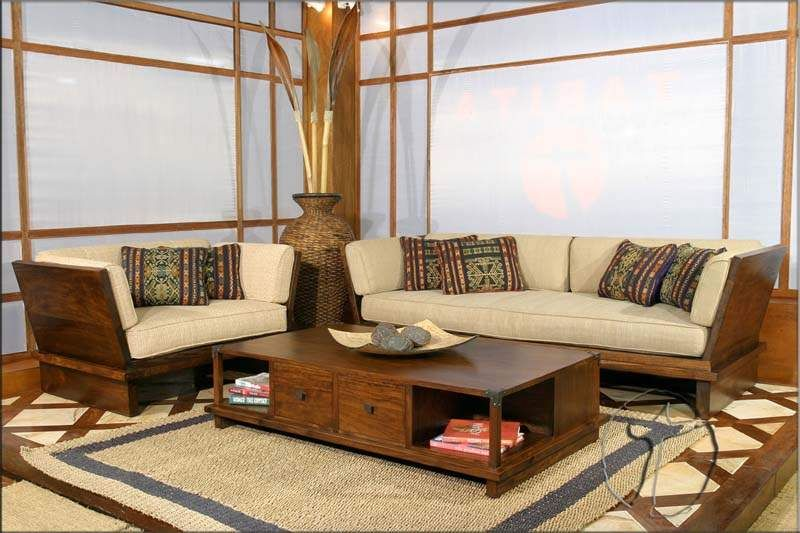 Wood Living Room Furniture: Wood Sofa Furniture Ideas For Living Room