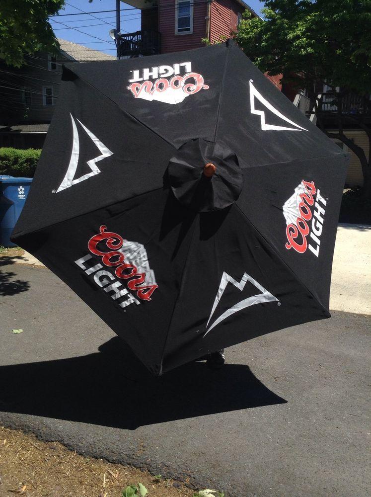 Nice Coors Light Beer Pool Beach Patio Umbrella Black Large 7 U0027 Tall New In Box