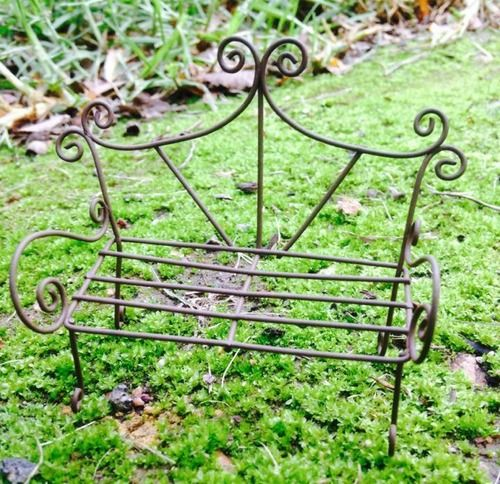 Whimsical Wire Bench