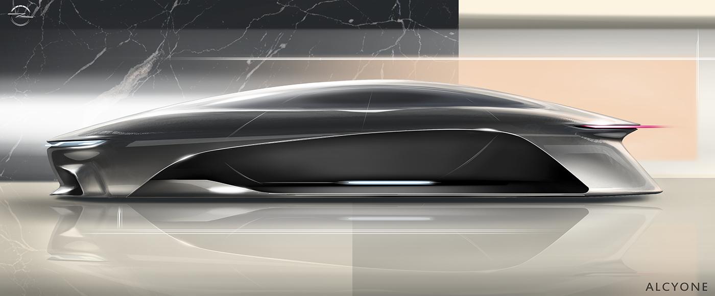 Opel Alcyone Concept 2050 By Maya Markova Car Design Electric Car Design Concept Car Design