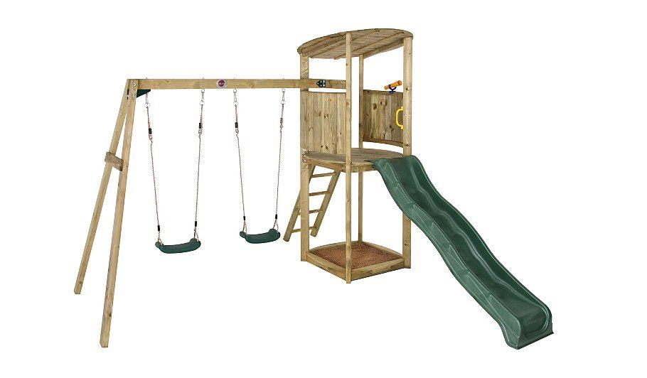 Plum Bonobo II Wooden Climbing Frame | Activity Centres and Climbers ...