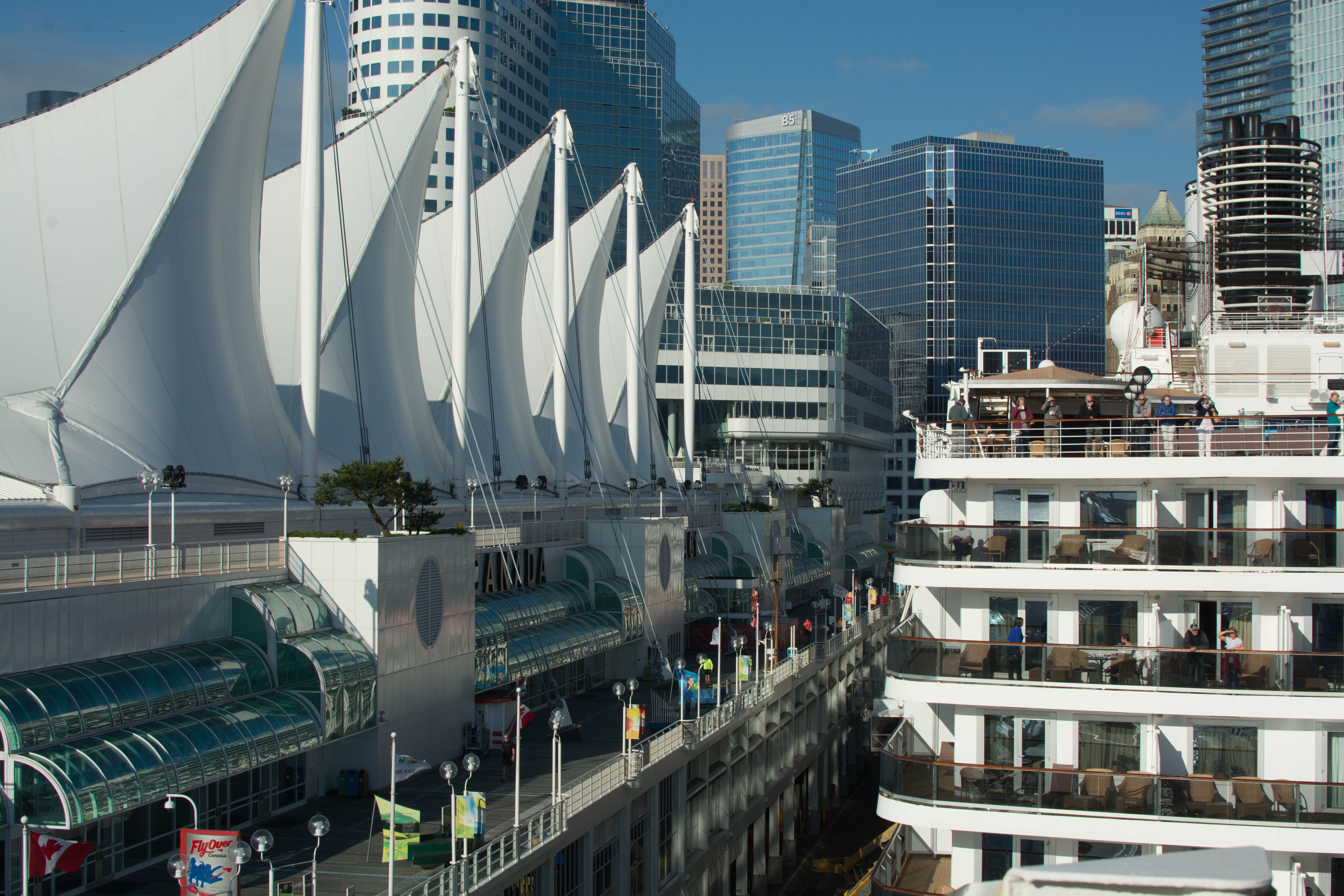 Canada Place and the Aft-end of the MS Noordam