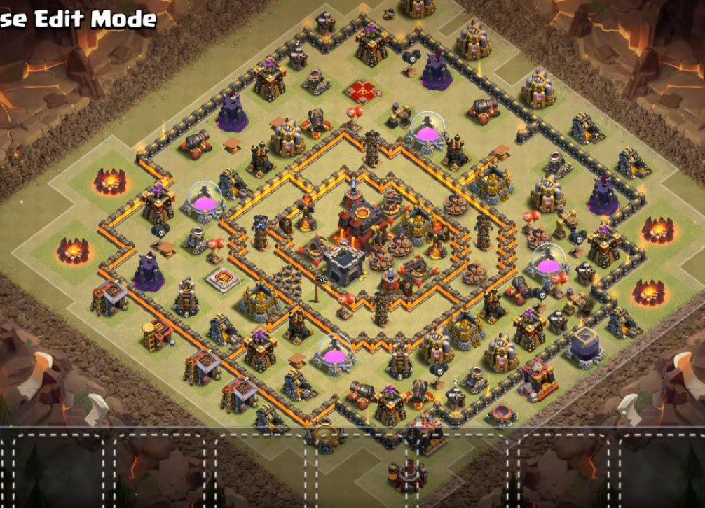 Coc Th 10 War Base Anti 3 Star 9