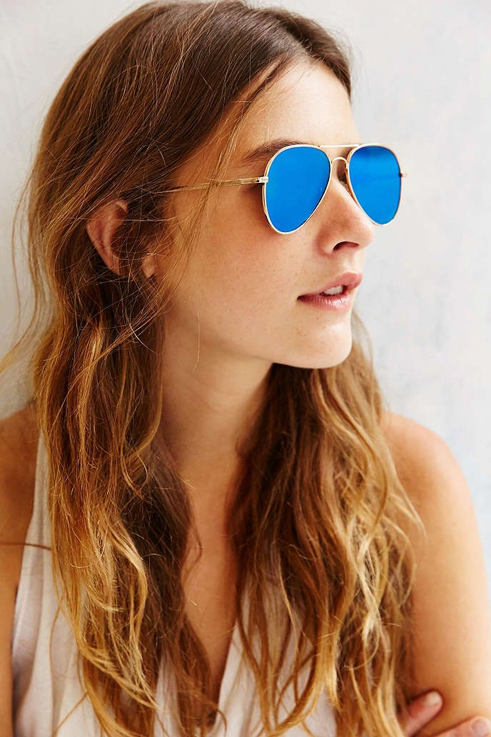 Flat Lens Aviator Sunglasses - Urban Outfitters