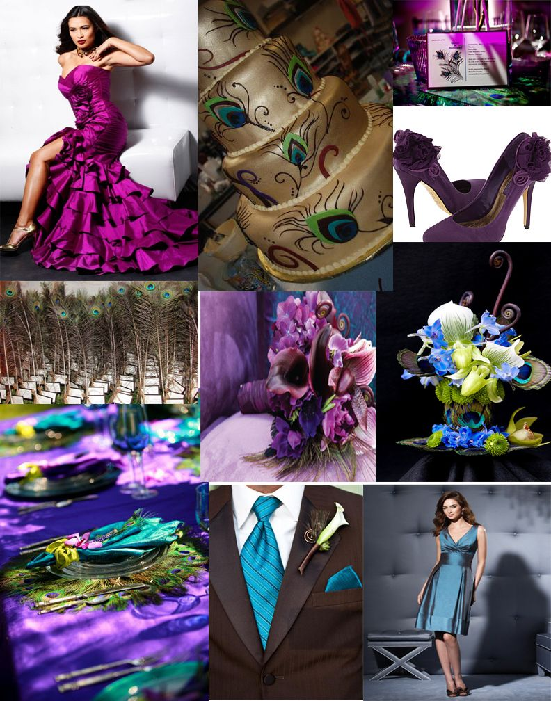 Purple and teal centerpieces purple and teal peacock - Purple and teal centerpieces ...