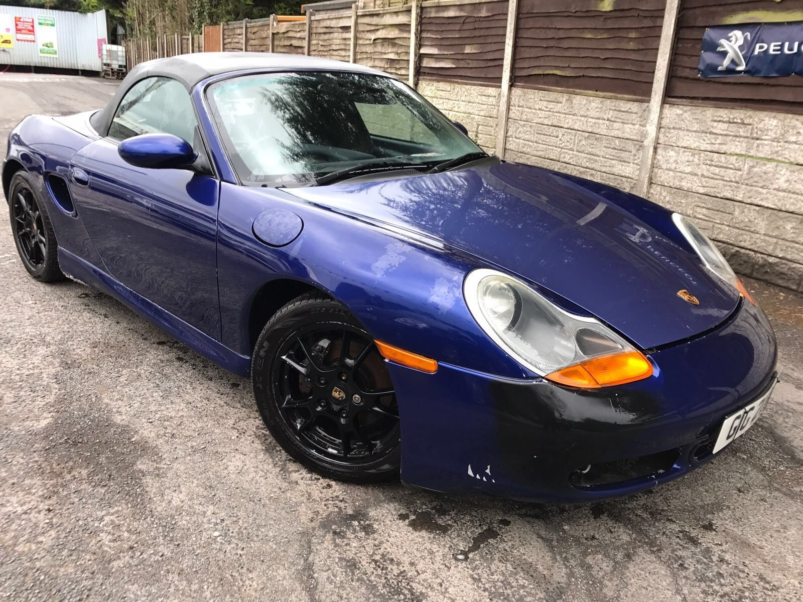 Porsche Boxster convertible 2001 2.7 petrol blue 59k salvage spares