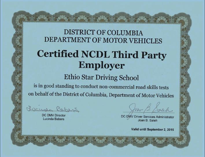 Driving School Washington Dc Ethio Star Driving School Car