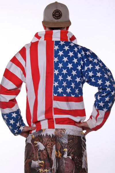 The American Flag Jacket Aka Lee Greenwood S Bathrobe American Flag Clothes Usa Outfit Patriotic Outfit