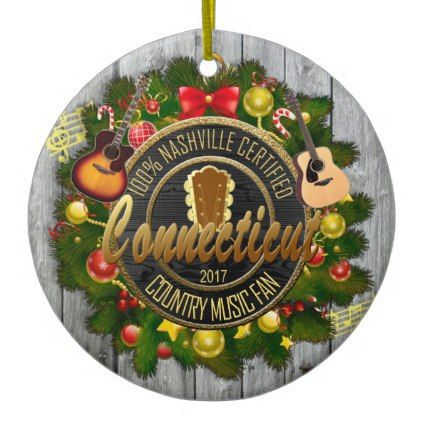 - Connecticut Country Music Fan Christmas Ornament
