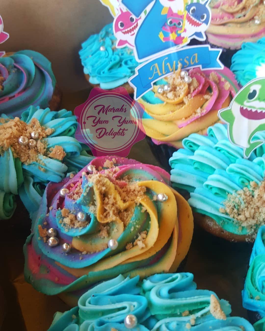 Baby Shark doo doo, doo doo doo doo cupcakes 😍 🤗🥳💕🦈