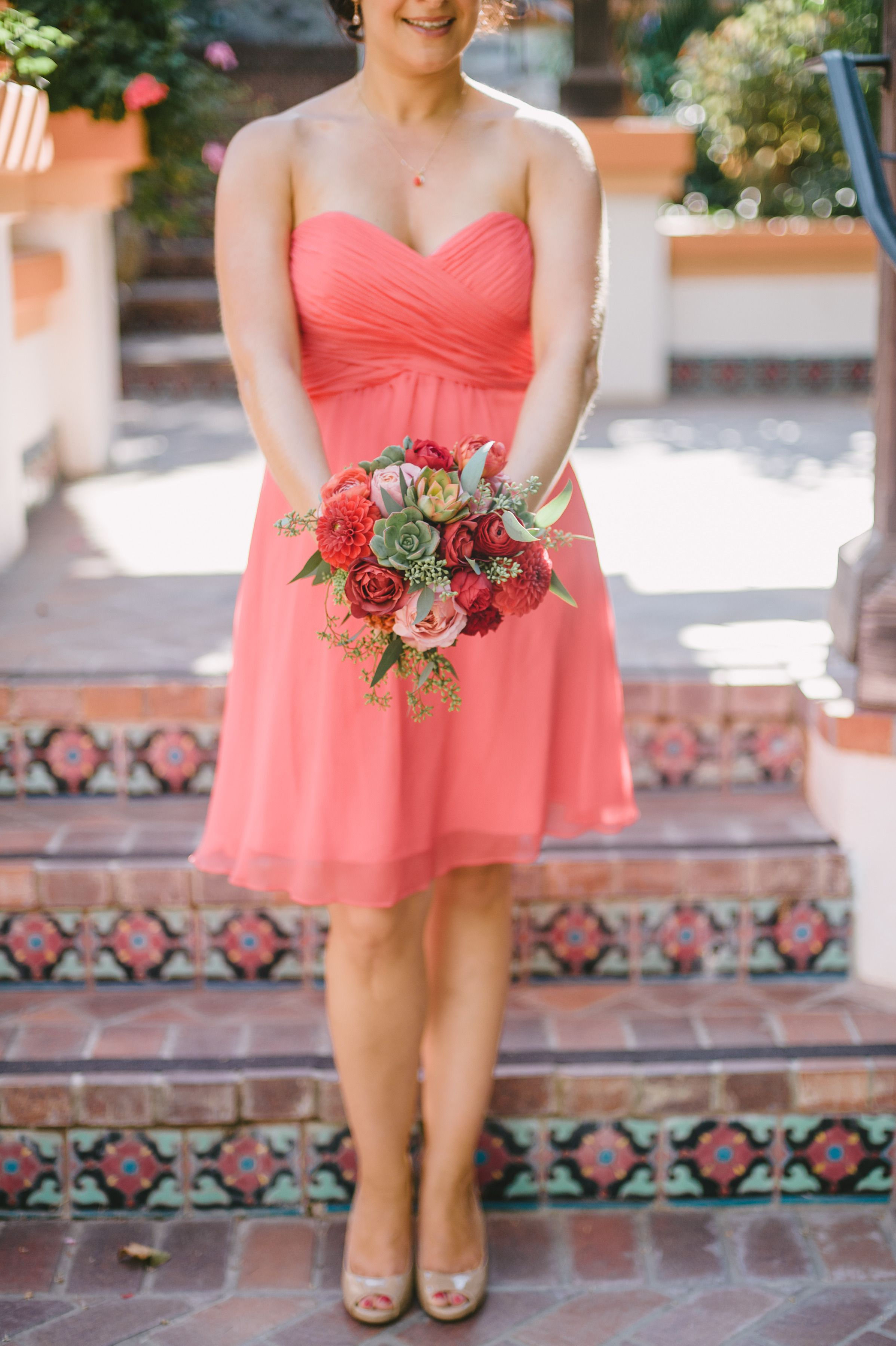 Rustic California Celebration Layered with Pink | Vestido de bodas ...