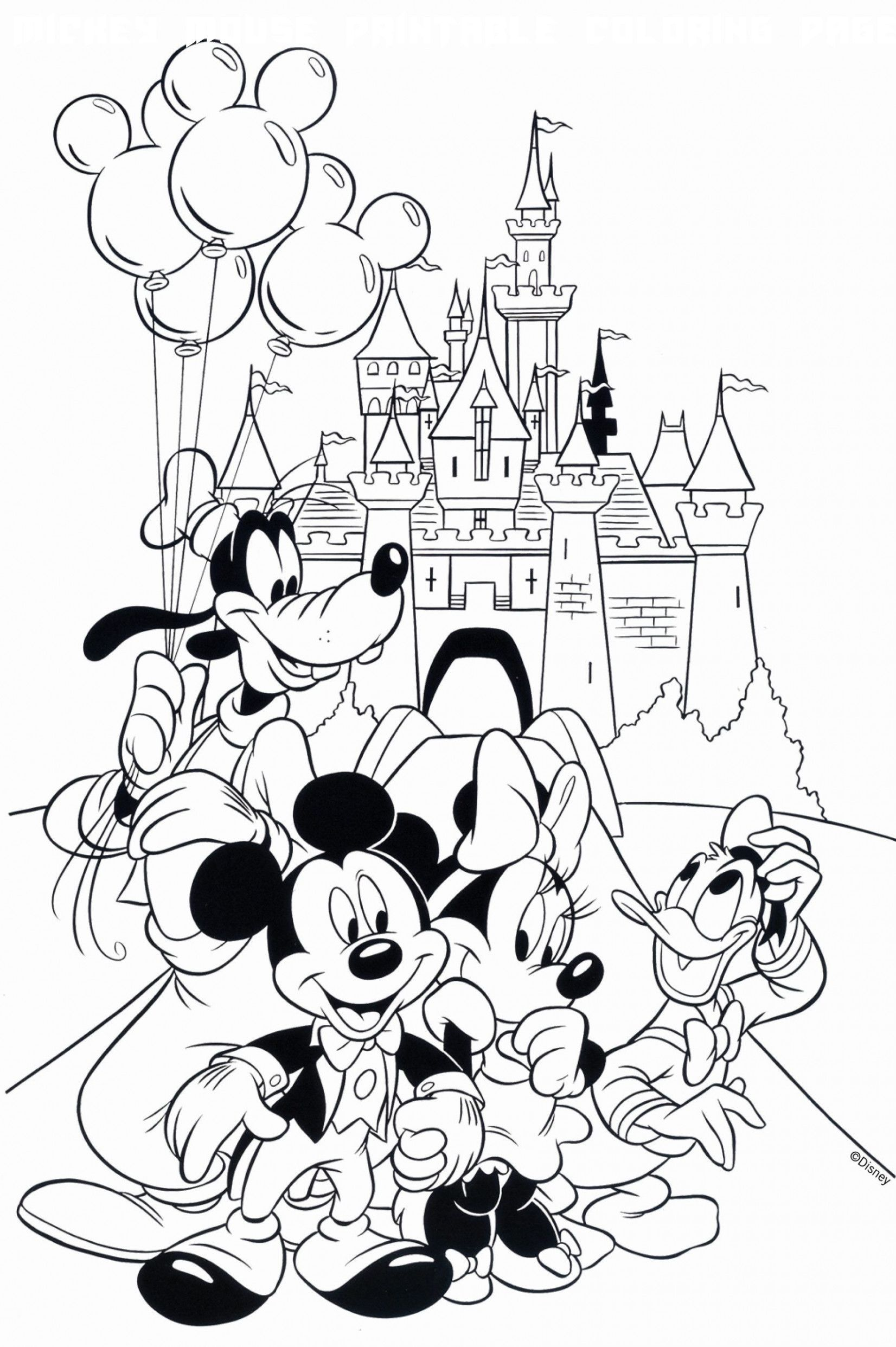 8 Mickey Mouse Printable Coloring Pages Disney Coloring Pages Mickey Coloring Pages Cartoon Coloring Pages